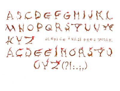 Czech Alphabet Font