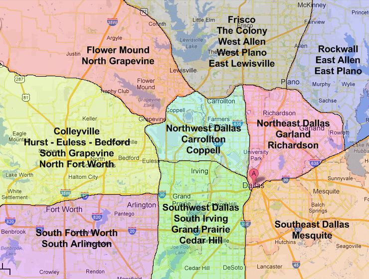 Dallas Map Areas