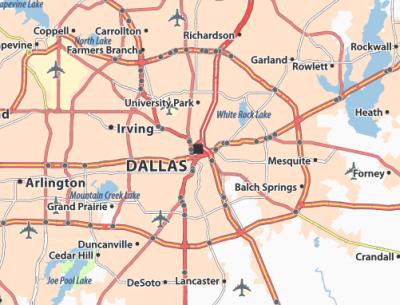 Dallas Map Image