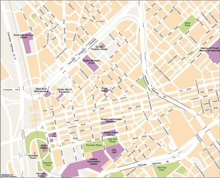 Dallas Map Vector