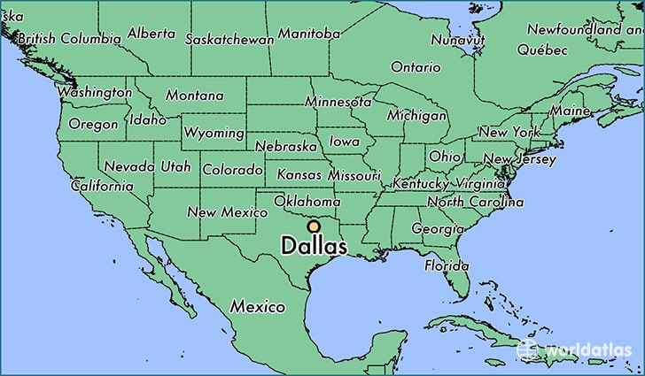 Dallas Map texas