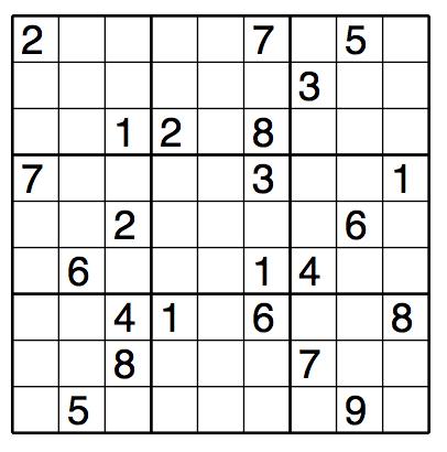 Difficult Sudoku Puzzle