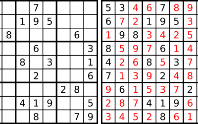 Difficult Sudoku Solutions