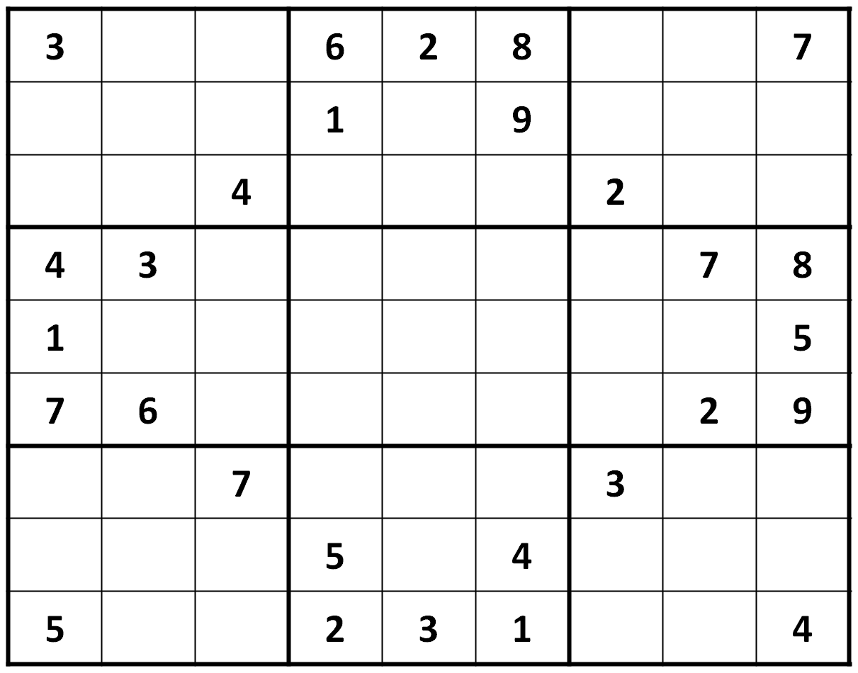 Difficulty Sudoku Printable