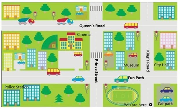 Directions Map Clipart