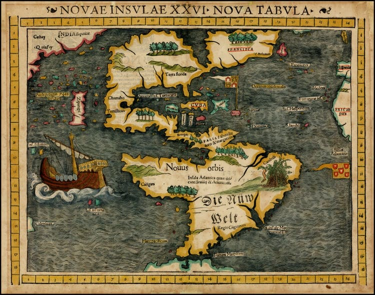 Early Map of America
