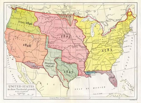 Map Of The United States Free HD Images - Map of us in 1848