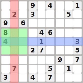 Easy Sudoku Hints