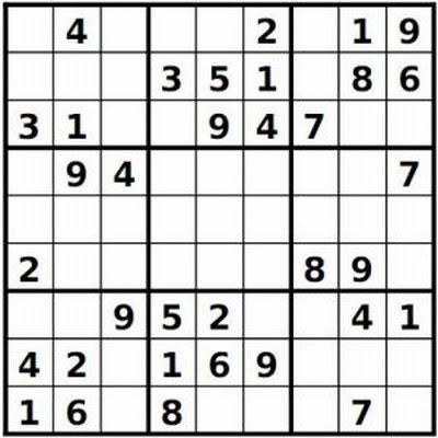 Easy Sudoku Printable
