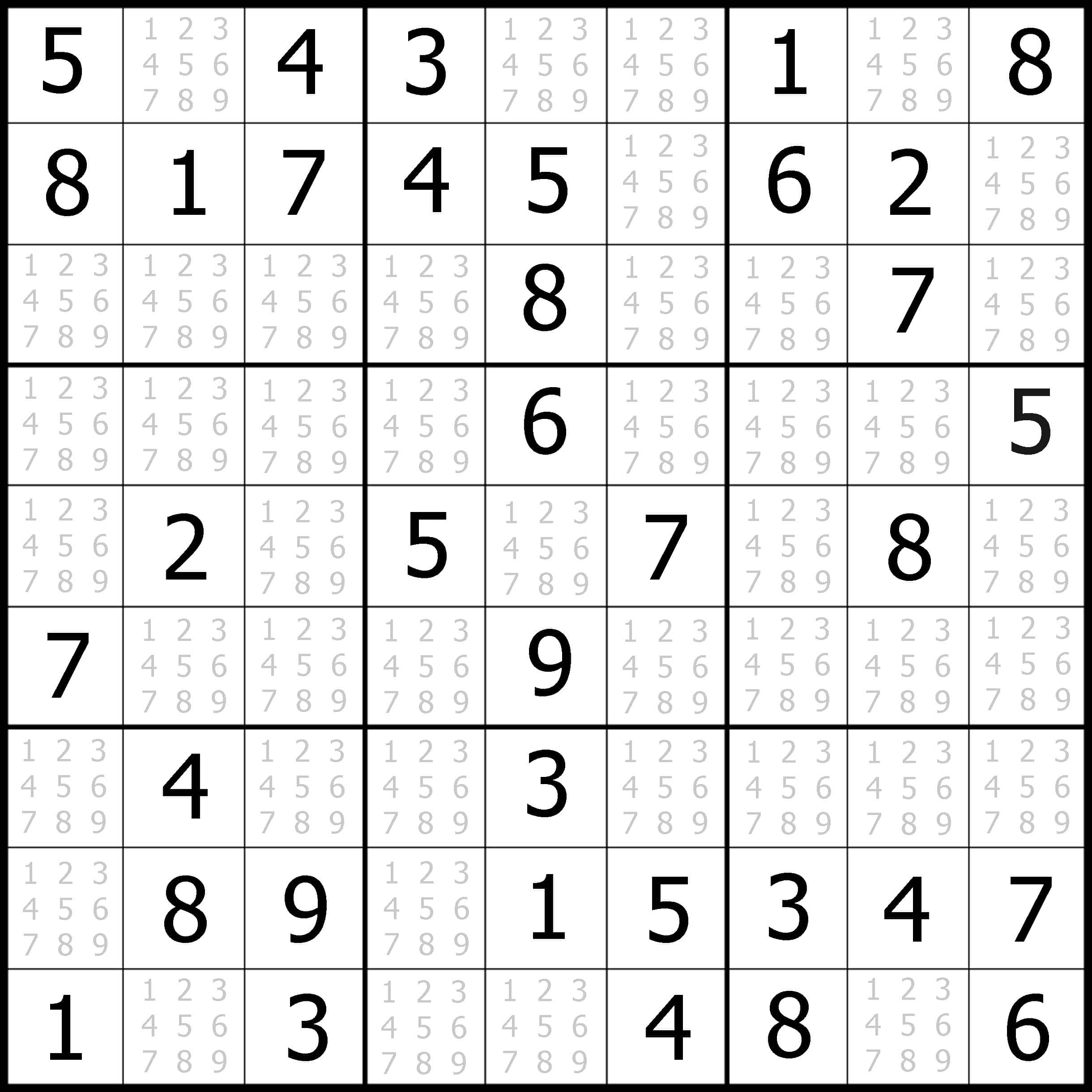 Easy Sudoku Puzzles Free