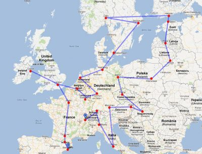 Europe Road Map Download