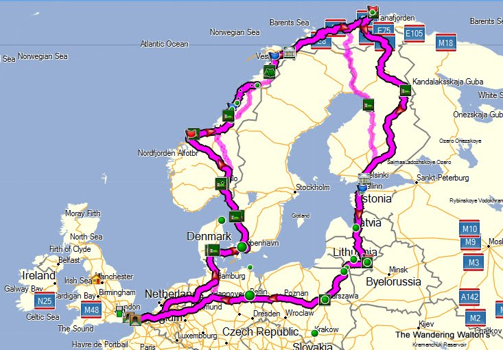 europe road map route planner