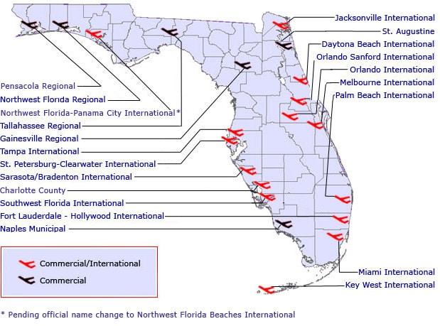 Florida Map Airport