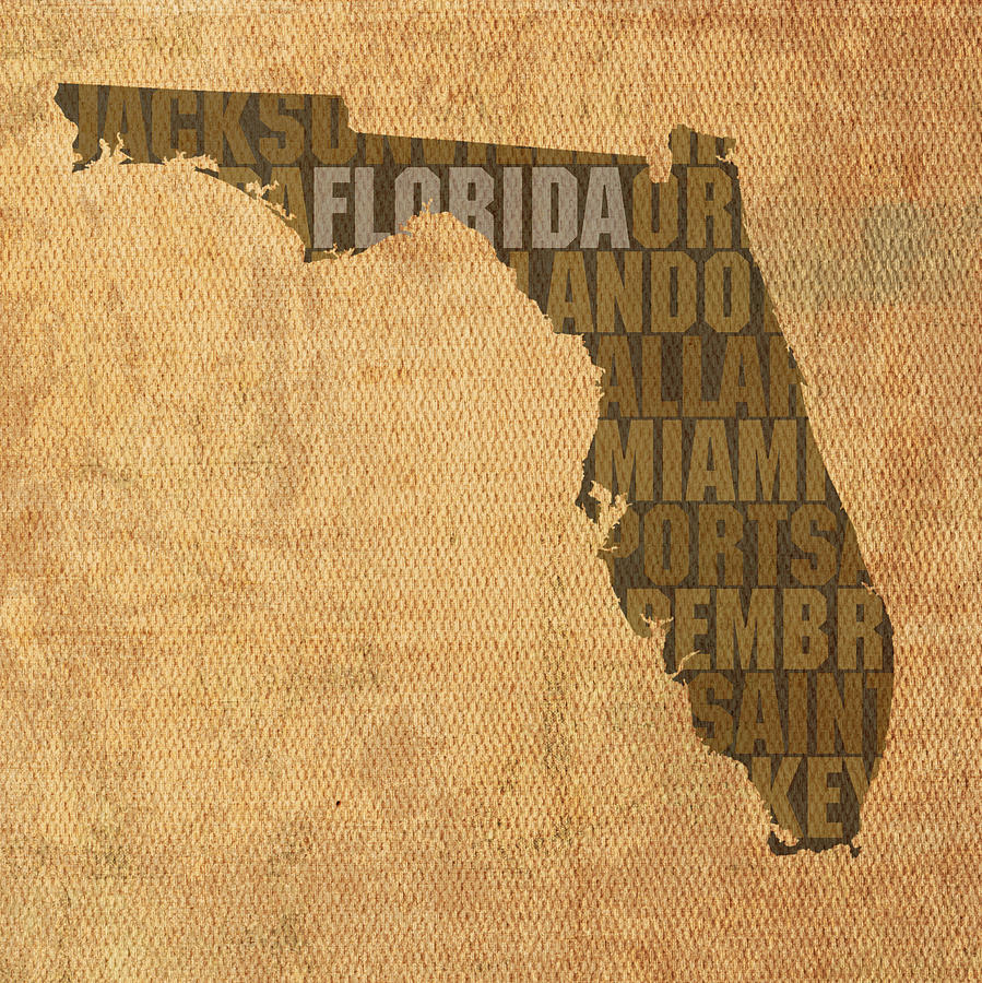 Florida Map Art