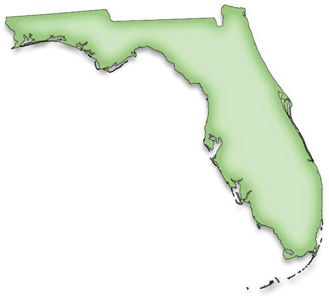 Florida Map Clipart