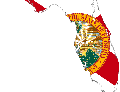 Florida Map Flag