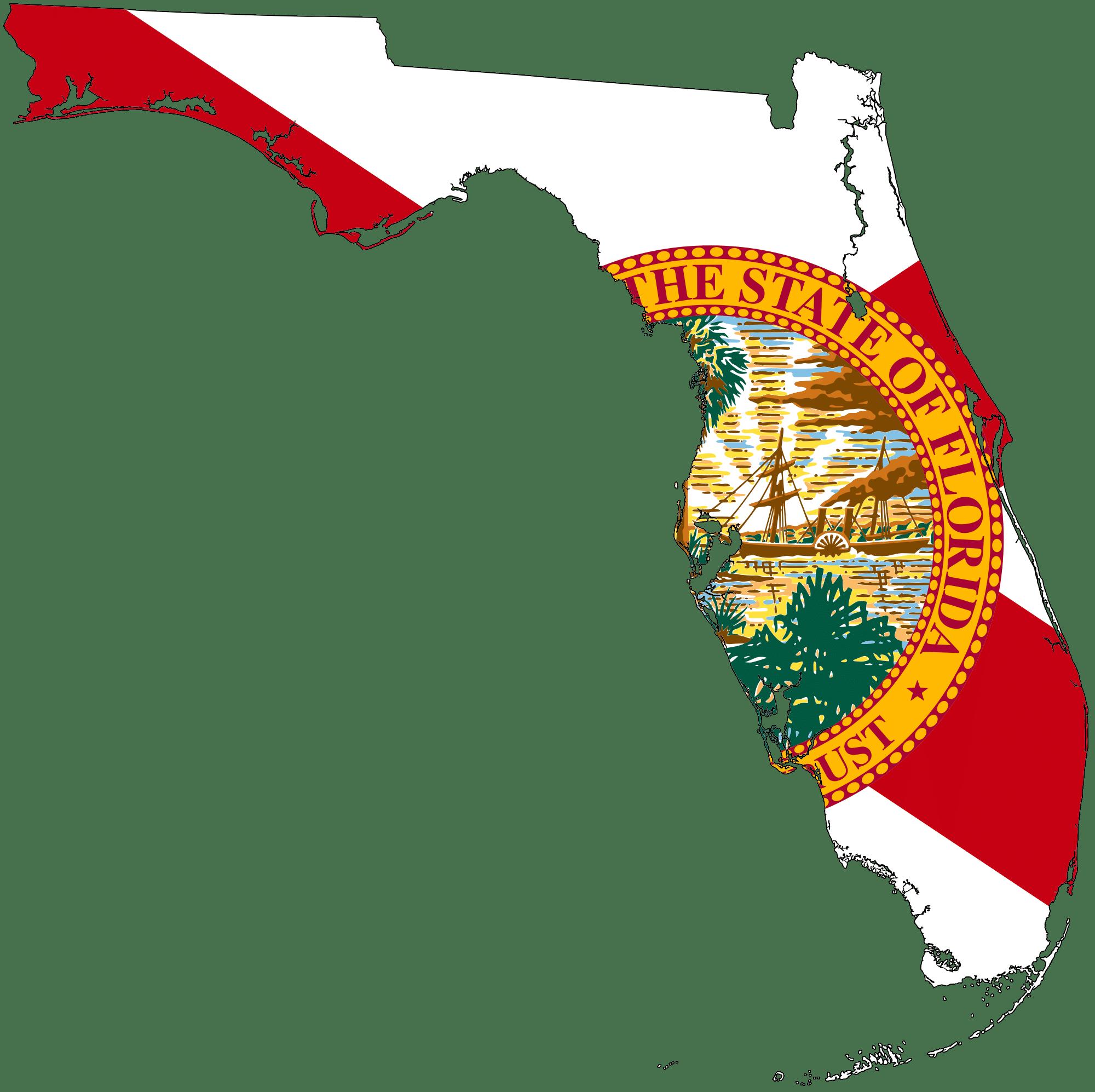 Florida Map Flag