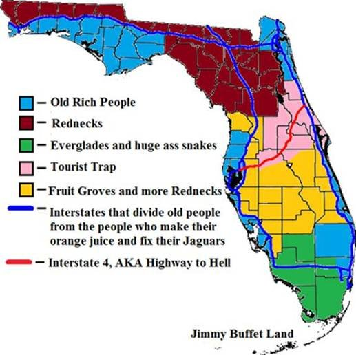 Florida Map Funny