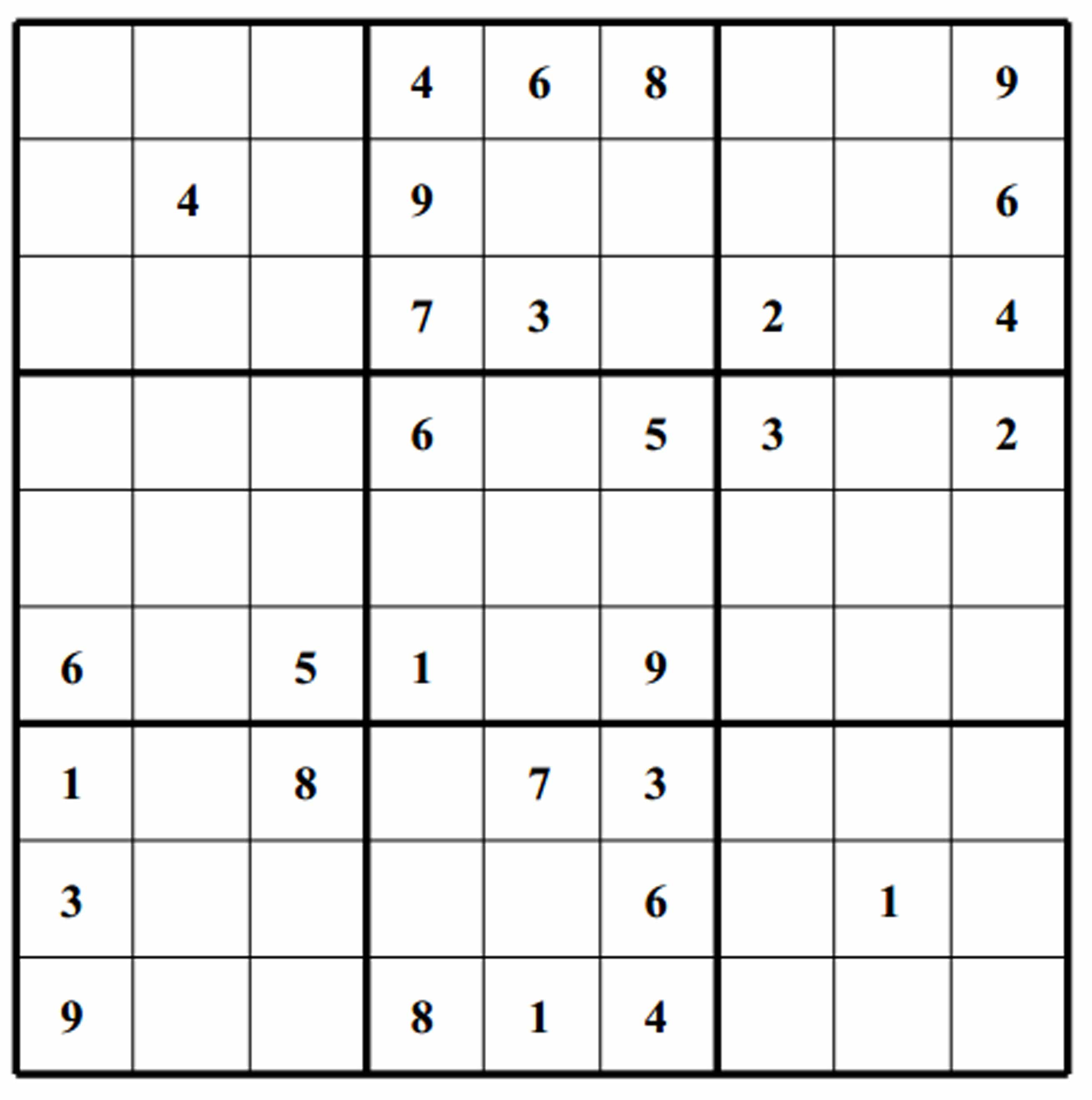 Free Easy Sudoku Images