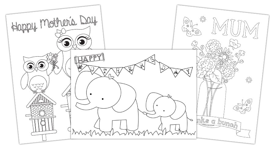 Free Mothers Day Card To Color