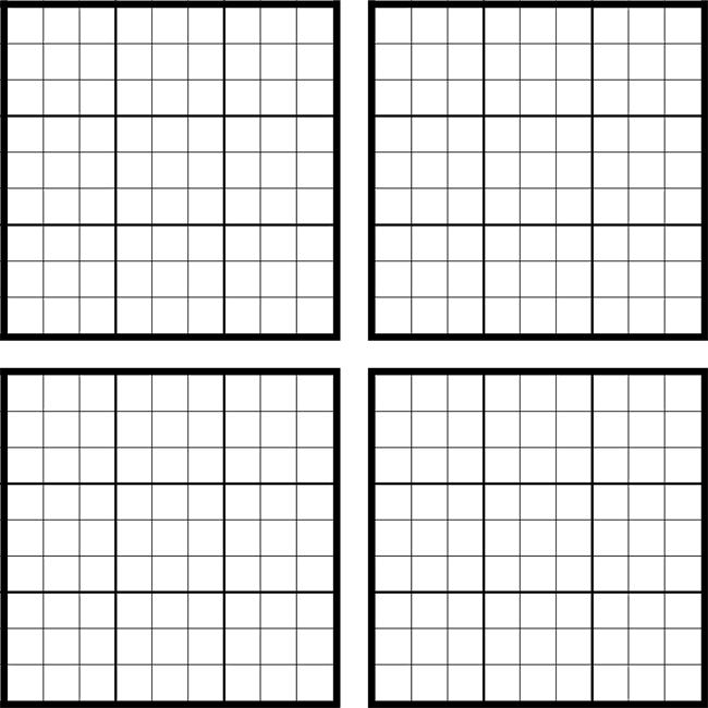 Free Printable Blank Sudoku
