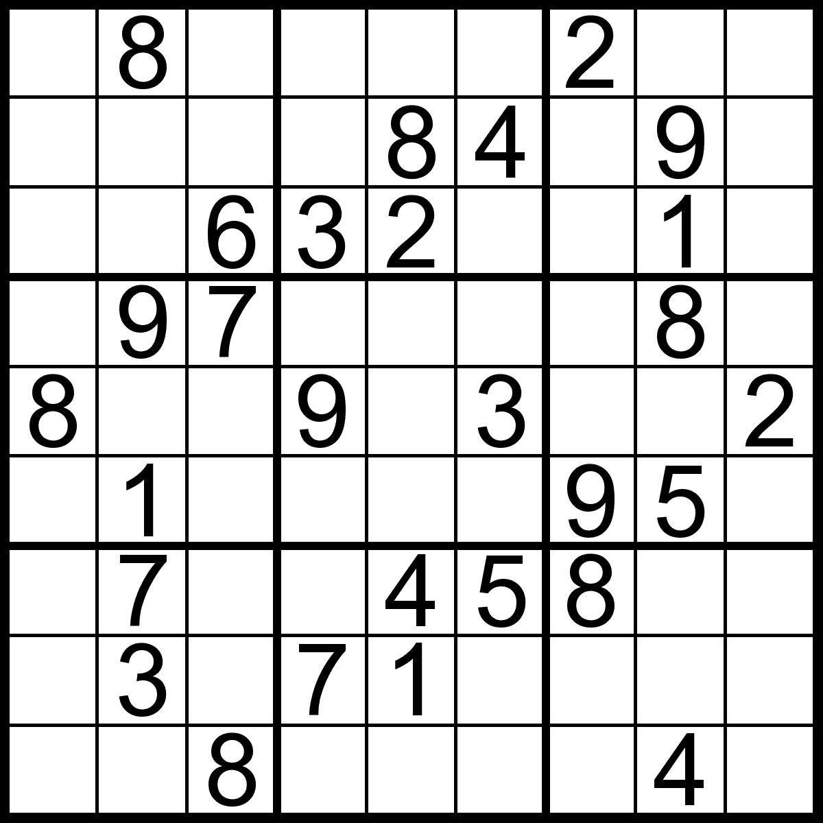 Free Printable Sudoku Chart