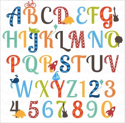 Stylish Alphabet Chart