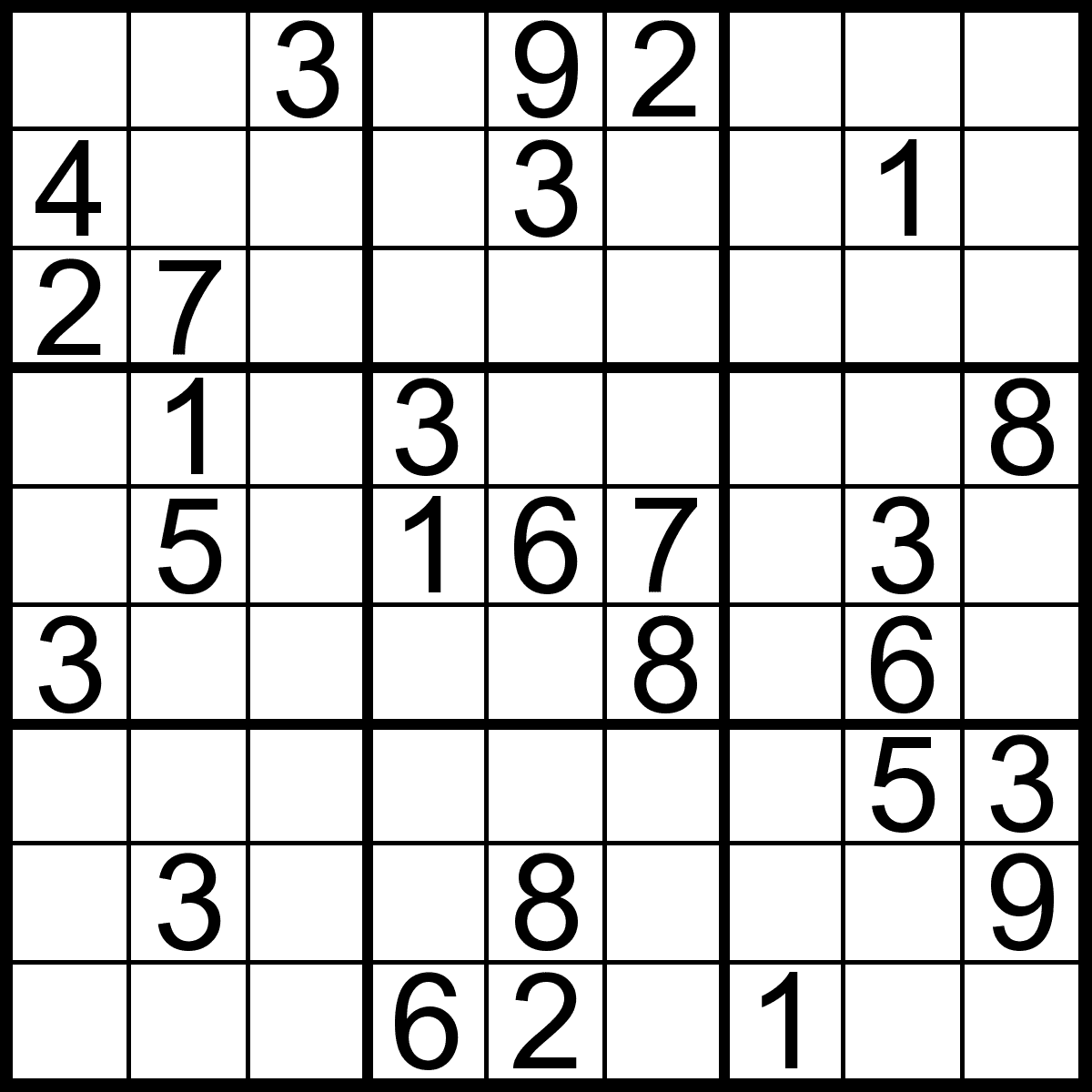 Free Sudoku Games Print