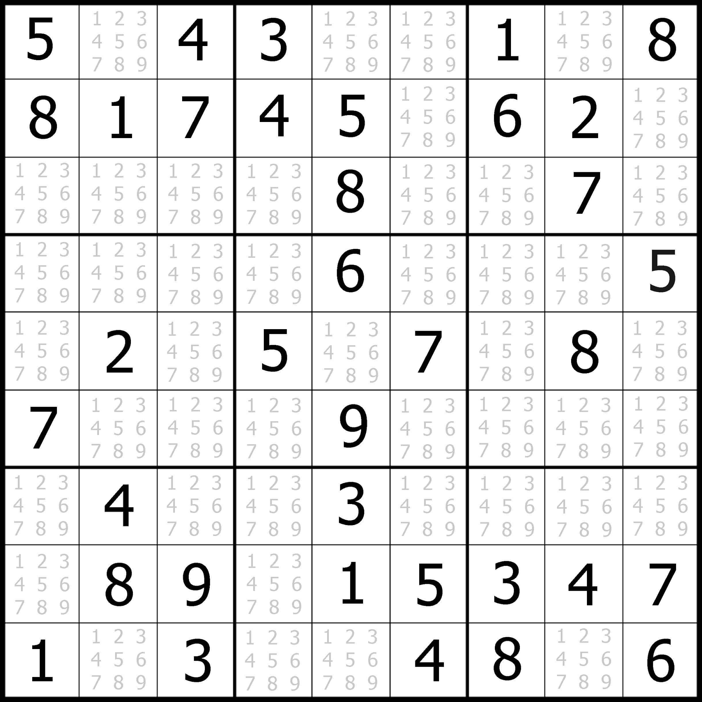 Free Sudoku Images Online
