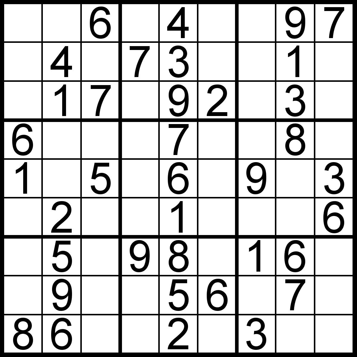 Free Sudoku Printable Image