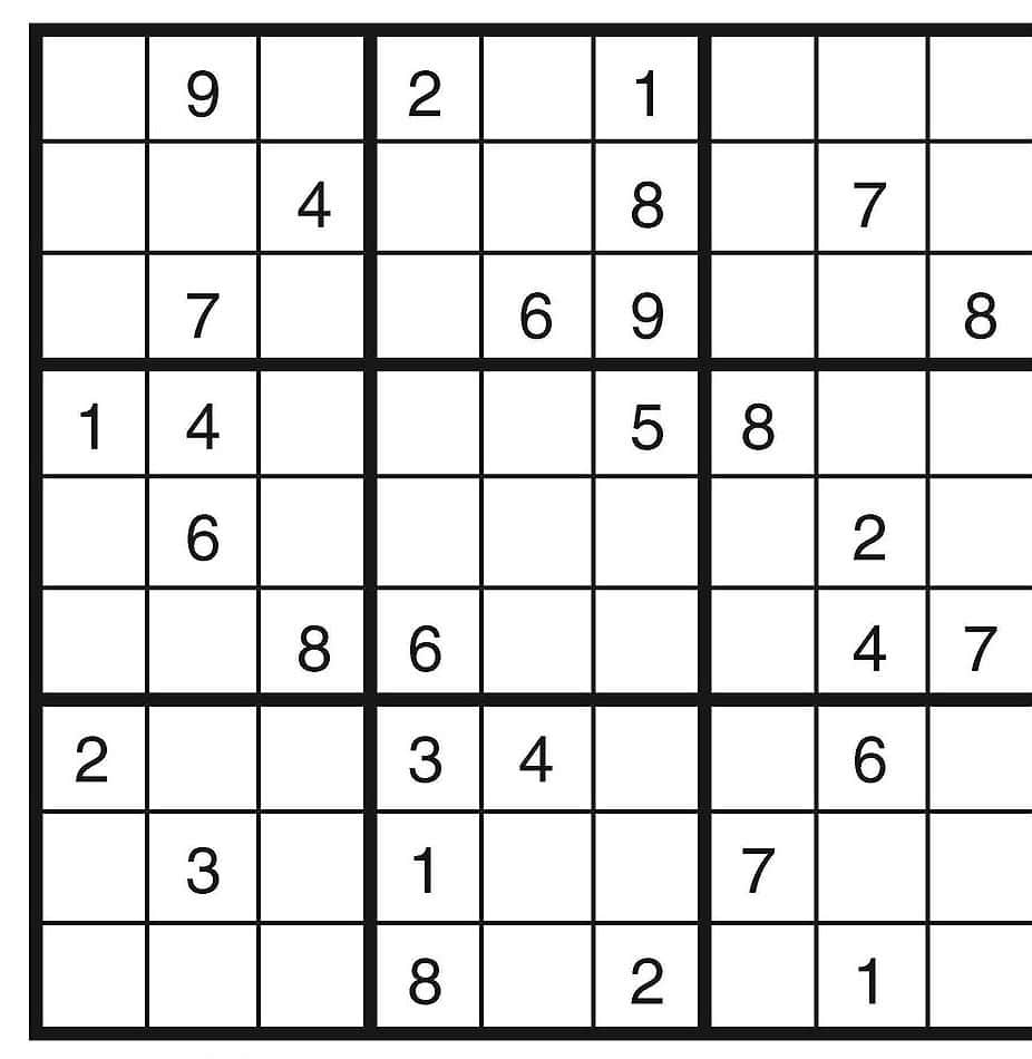 Free Sudoku Printable Images Online