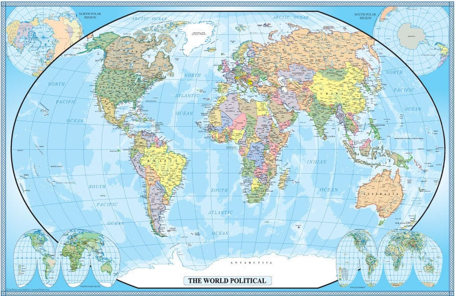 Free World Map Poster