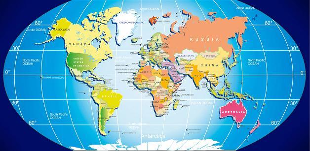 Free World Map Printable