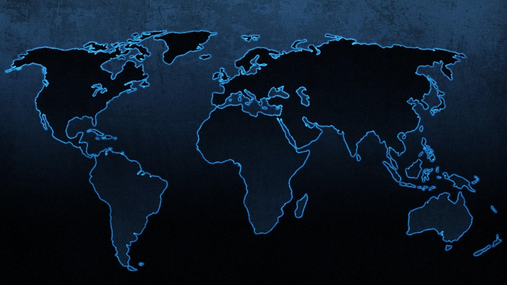 Free World Map Wallpaper