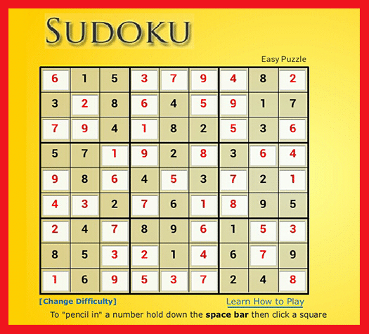 Game Sudoku Picture