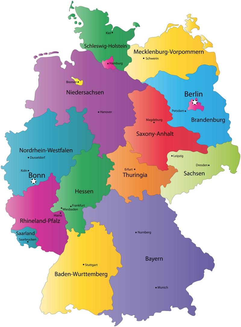 Germany Map Capitals