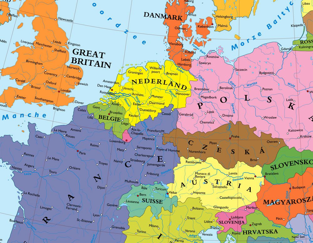 Germany Map Europe