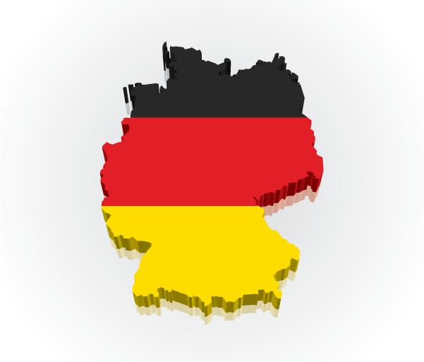 Germany Map Flag