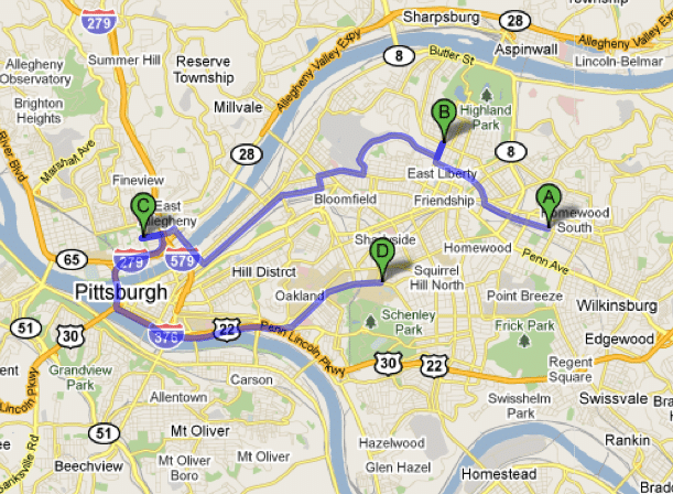 Google Directions Map