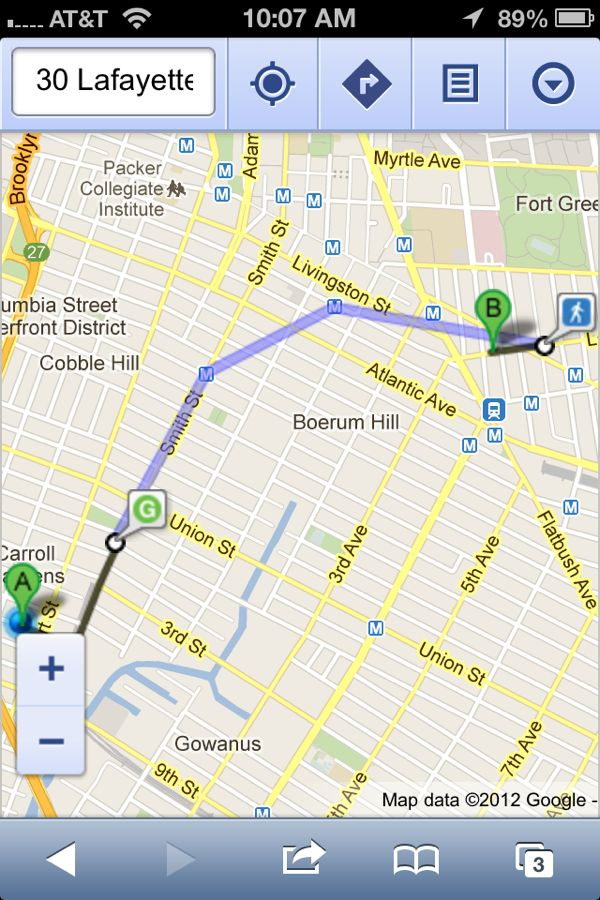 Google Map Mobile