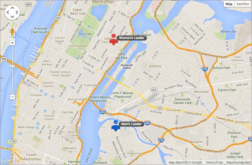 Google Map New York