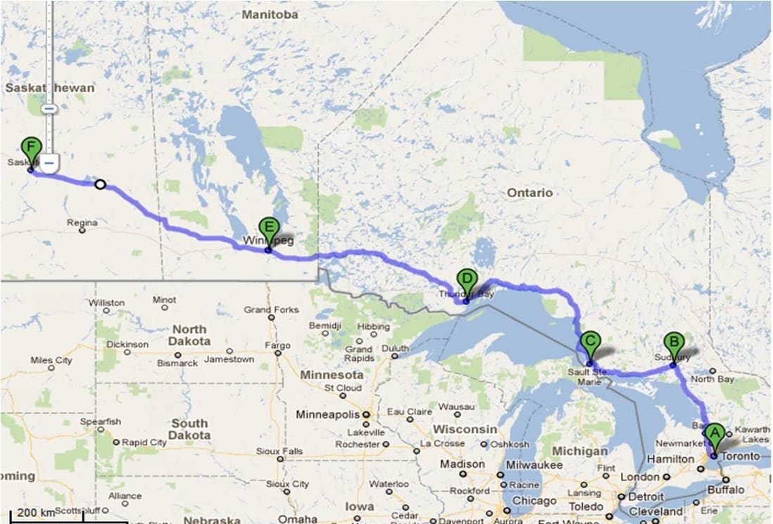 Google Map of Ontario