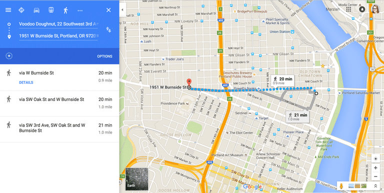 Google Maps Directions Image