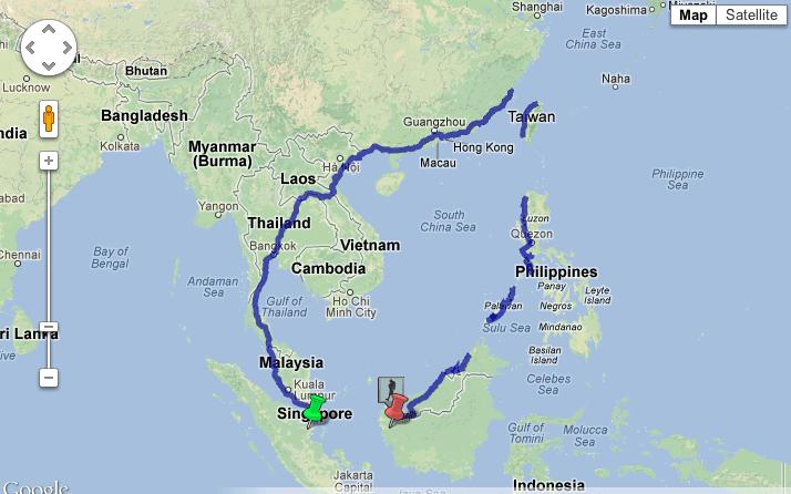 Google World Map Direction
