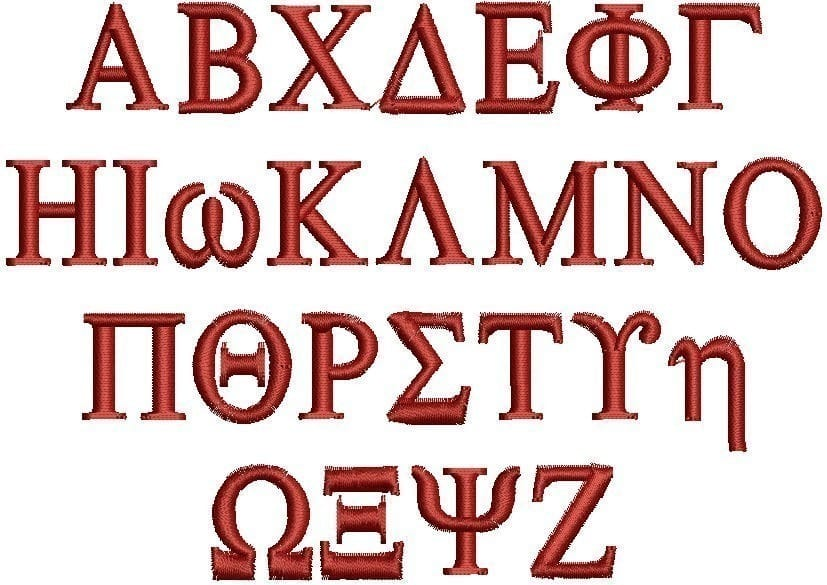 Greek Alphabet Font Format