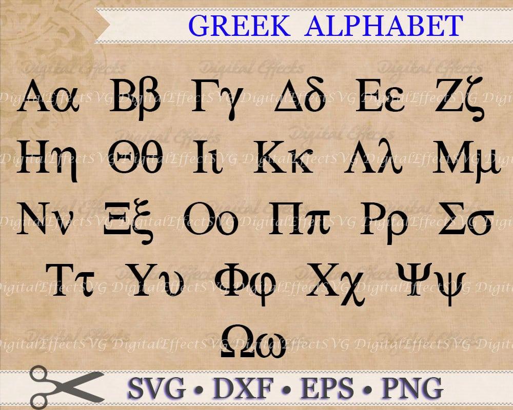 Greek Alphabet Font Poster