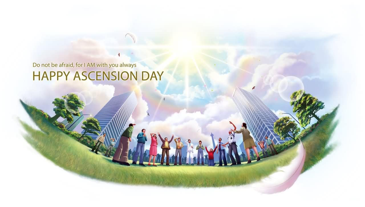 Happy Ascension Day 2017 greetings Card Idea