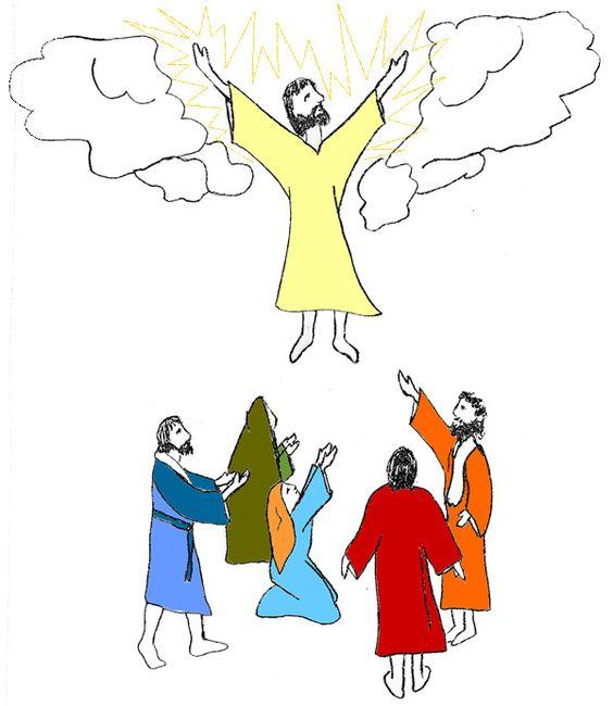 Happy Ascension Day Clip Art