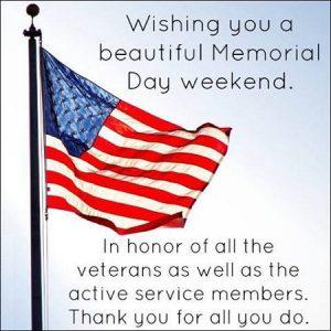 Happy Memorial Day Message