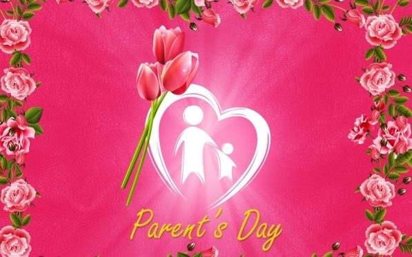 Happy Parents Day Greeting Cards Design
